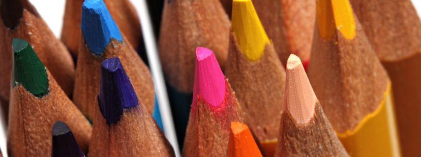 Bright Colored Pencil Header